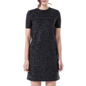 Tory Burch Tinsel Effect Panel Dress Blue - New